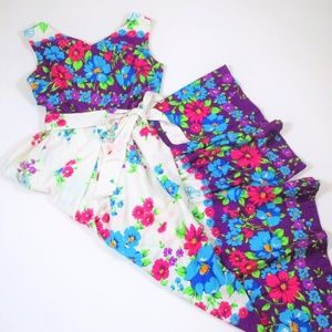 Vintage Alice Jumpsuit Day Glow Floral Hippie Boho